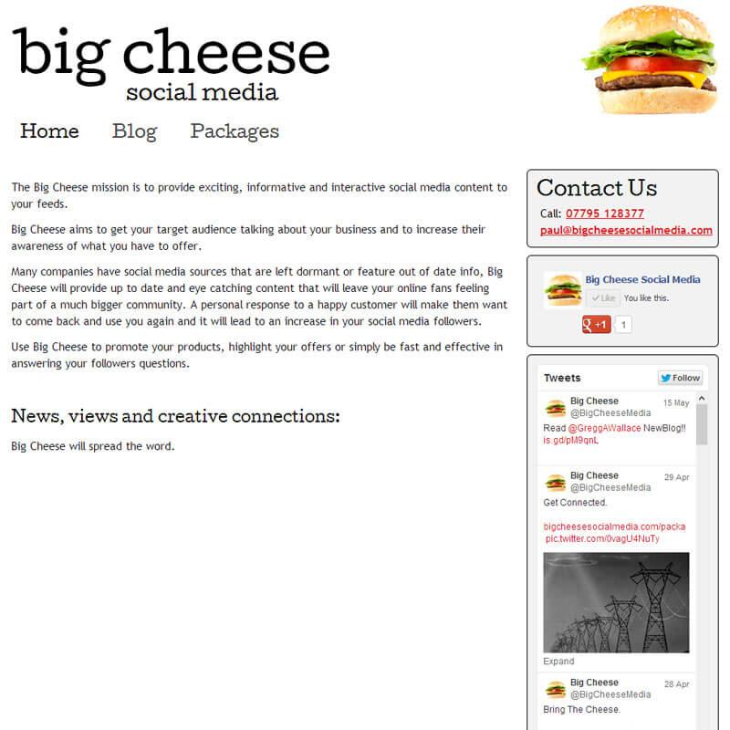 Big Cheese Social Media