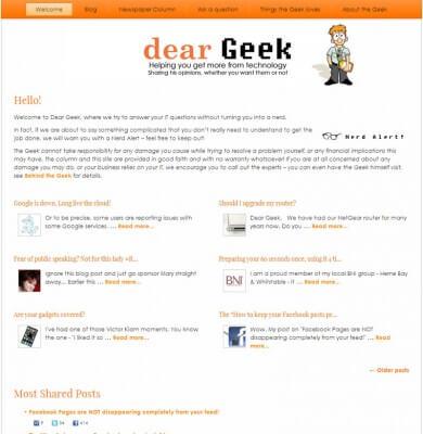 Dear Geek