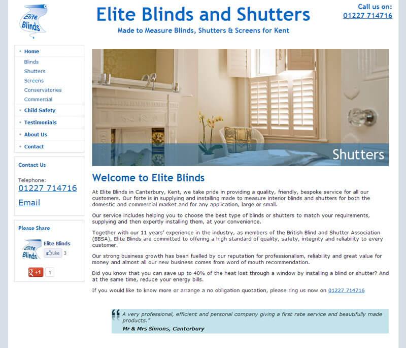 Elite Blinds & Shutters