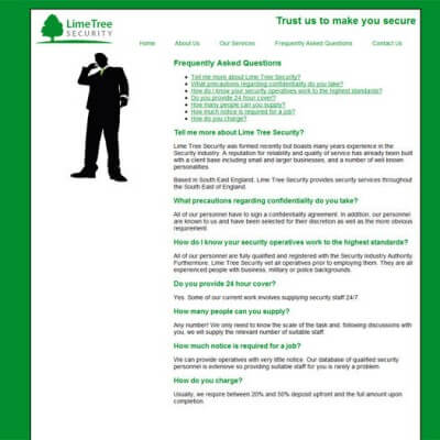Limetree Security