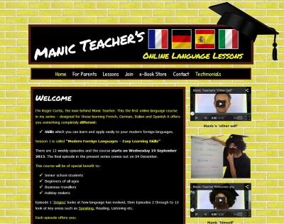 Manic Teacher Online Language Lessons