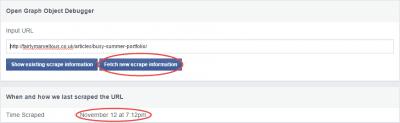 Facebook scrape information