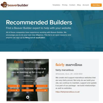 Proud to be a Recommended Beaver Builder 3