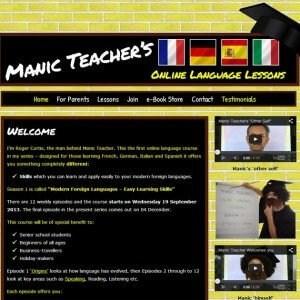 Manic Teacher Online Language Lessons